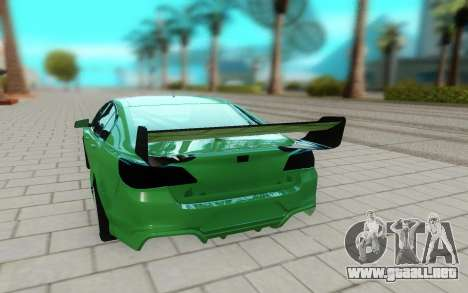 Holden Commodore para GTA San Andreas vista hacia atrás
