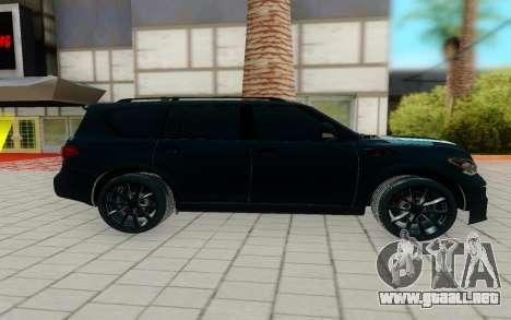 Infiniti QX56 para GTA San Andreas left