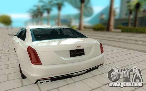Cadillac CT6 para GTA San Andreas vista hacia atrás