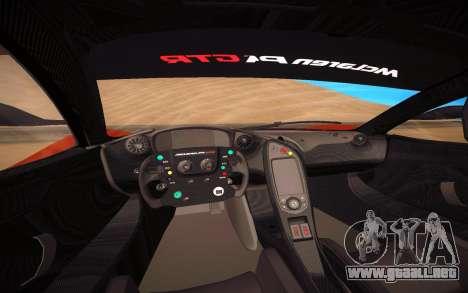 McLaren P1 GTR para visión interna GTA San Andreas