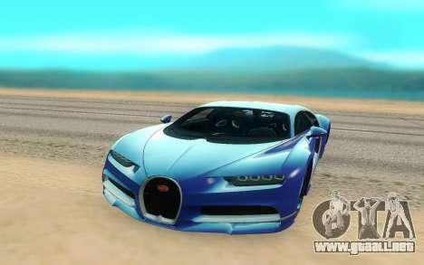 Bugatti Chiron para la visión correcta GTA San Andreas