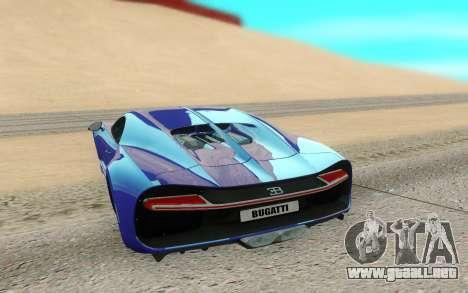 Bugatti Chiron para GTA San Andreas vista hacia atrás