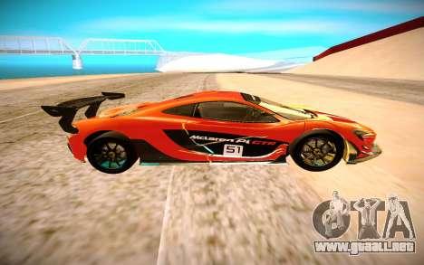 McLaren P1 GTR para GTA San Andreas left