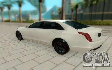 Cadillac CT6 para GTA San Andreas vista posterior izquierda