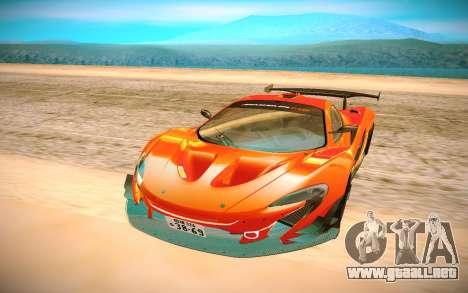 McLaren P1 GTR para GTA San Andreas vista hacia atrás