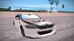 El BMW M5 F90 blanco para GTA San Andreas