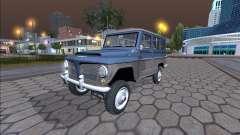 Jeep Rural Willys 1961 - Versión Brasileña para GTA San Andreas