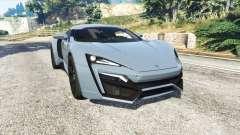 W Motors Lykan HyperSport 2014 v1.3 [replace] para GTA 5