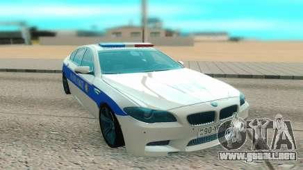 BMW M5 F10 blanco para GTA San Andreas