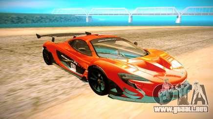 McLaren P1 GTR negro para GTA San Andreas