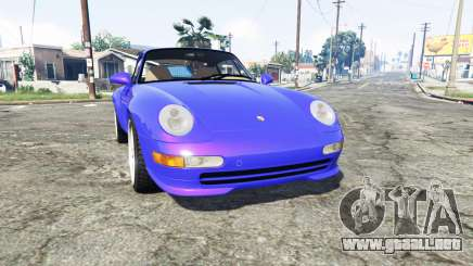 Porsche 911 Carrera RS (993) 1995 v1.2 [replace] para GTA 5