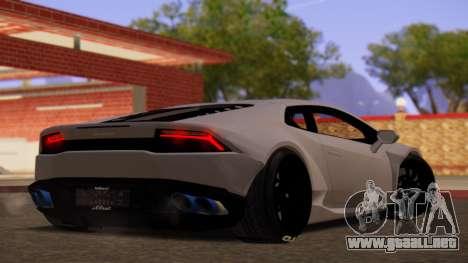 Lamborghini Huracan Pamdem Kit para GTA San Andreas left
