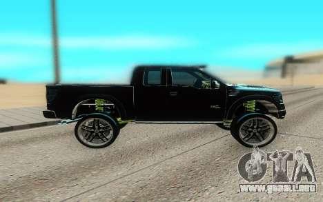 Ford 150 Raptor 2012 para GTA San Andreas left