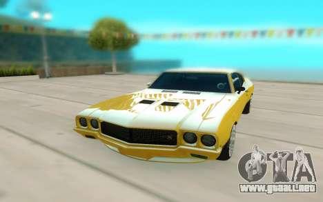 1970 Buick GSX V10 para la visión correcta GTA San Andreas