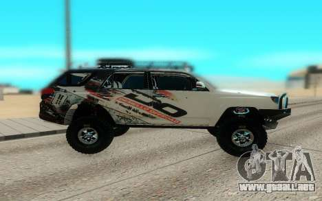 Toyota FJ Cruiser 4 Runner para GTA San Andreas left