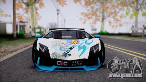 Lamborghini Aventador v3 para la visión correcta GTA San Andreas