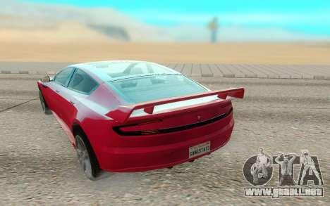 GTA V Coil Raiden para GTA San Andreas vista hacia atrás