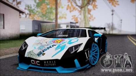 Lamborghini Aventador v3 para GTA San Andreas left