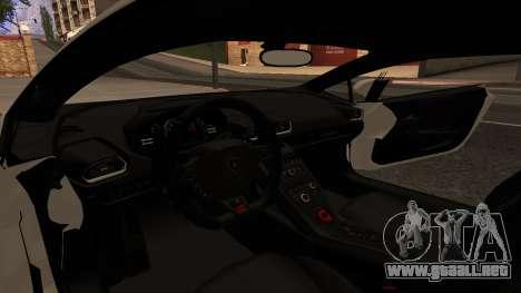 Lamborghini Huracan Pamdem Kit para GTA San Andreas vista hacia atrás