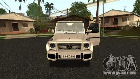 Mercedes-Benz G65 Azerbaijan Edition para GTA San Andreas left