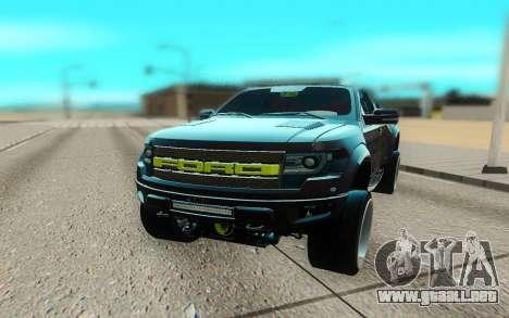 Ford 150 Raptor 2012 para la visión correcta GTA San Andreas