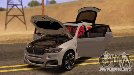 BMW X6 50D para GTA San Andreas vista posterior izquierda