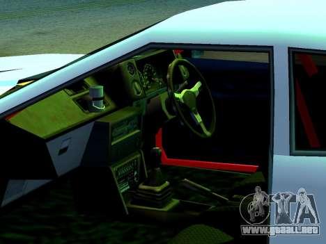 Elegy Missle para GTA San Andreas vista posterior izquierda