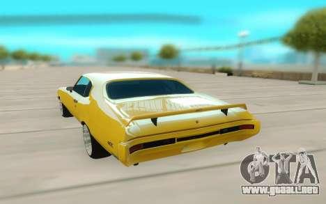 1970 Buick GSX V10 para GTA San Andreas vista hacia atrás
