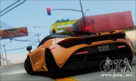 McLaren 720S para GTA San Andreas left