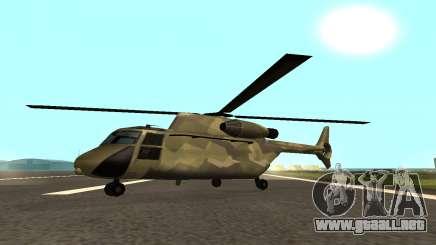 MFR Cargobob Piloto de la Selva Concepto para GTA San Andreas