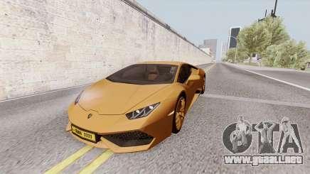 Lamborghini Huracan Dubai para GTA San Andreas