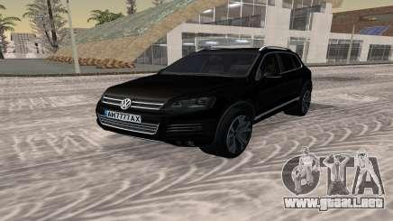 Volkswagen Touareg чёрный para GTA San Andreas