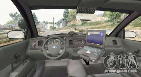 GTA 5 Ford Crown Victoria LSPD [replace] vista lateral trasera derecha