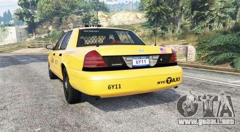 GTA 5 Ford Crown Victoria Undercover Police [replace] vista lateral izquierda trasera