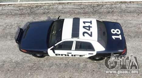 GTA 5 Ford Crown Victoria LSPD [replace] vista trasera