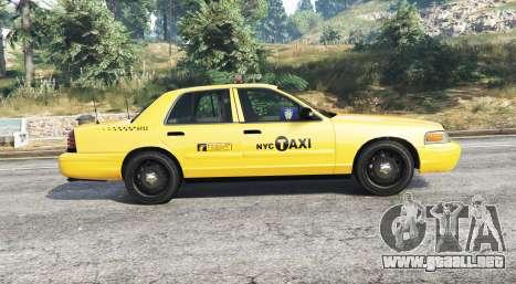 GTA 5 Ford Crown Victoria Undercover Police [replace] vista lateral izquierda