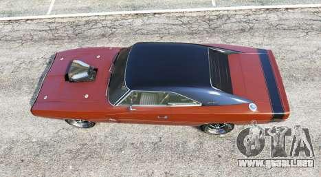 GTA 5 Dodge Charger RT (XS29) 1970 v4.0 [replace] vista trasera