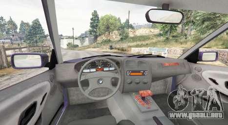 GTA 5 BMW M3 (E36) Touring v2.0 [replace] vista lateral trasera derecha