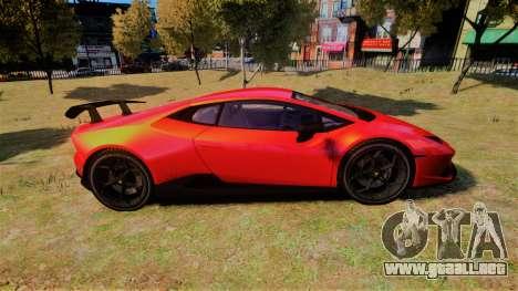 Lamborghini Huracan Performante para GTA 4 left