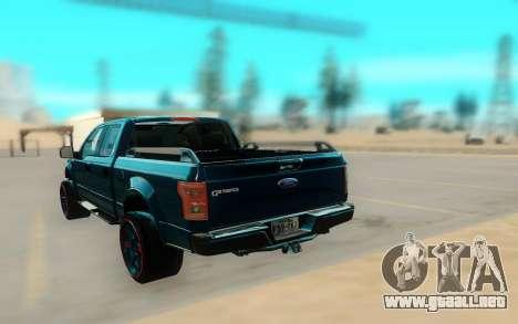 Ford F150 para GTA San Andreas vista hacia atrás