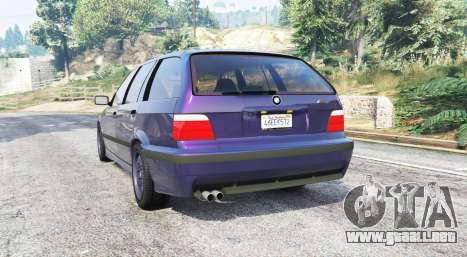 GTA 5 BMW M3 (E36) Touring v2.0 [replace] vista lateral izquierda trasera