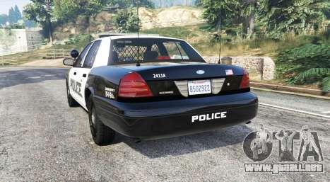 GTA 5 Ford Crown Victoria LSPD [replace] vista lateral izquierda trasera
