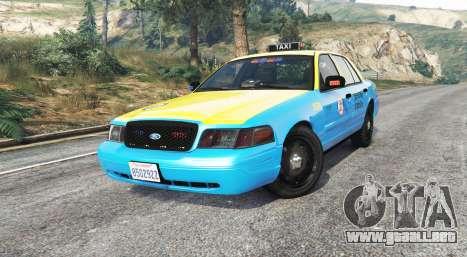 GTA 5 Ford Crown Victoria Undercover Police [replace] vista lateral derecha