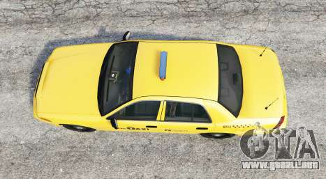 GTA 5 Ford Crown Victoria Undercover Police [replace] vista trasera