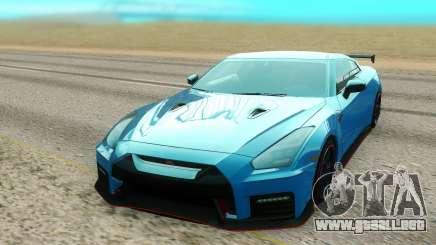 Nissan GTR NISMO azul para GTA San Andreas