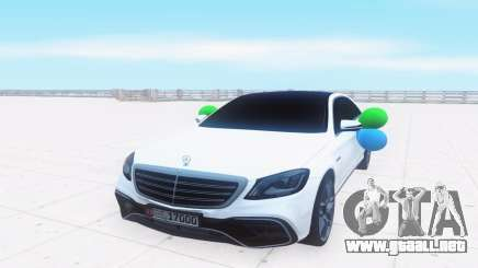 Mercedes-Benz W222 белый para GTA San Andreas