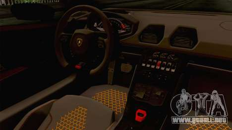 Lamborghini Huracan Performante Spyder para visión interna GTA San Andreas