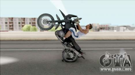 Motocicleta de juego PUBG para GTA San Andreas vista hacia atrás