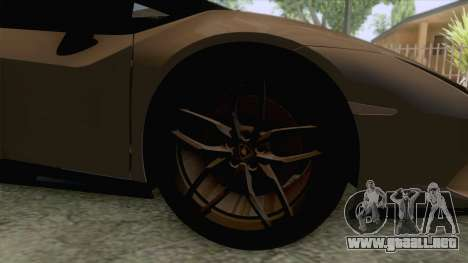 Lamborghini Huracan Performante Spyder para GTA San Andreas vista hacia atrás