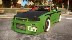 Fast And Furious Nissan Skyline R33 para GTA 4